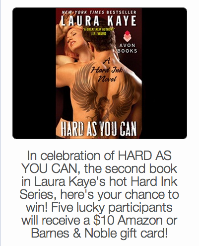 Click me to be taken to Rafflecopter for a chance to win.